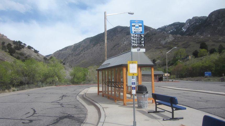 Alta Ski Resort bus stop