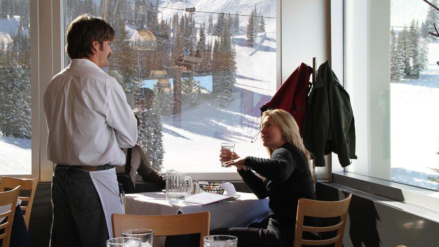 Alta Ski Resort on mountain restaurants