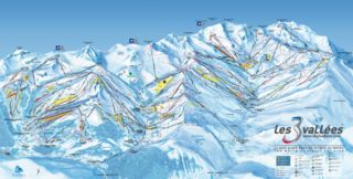 Courchevel map