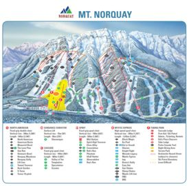 Mount Norquay map