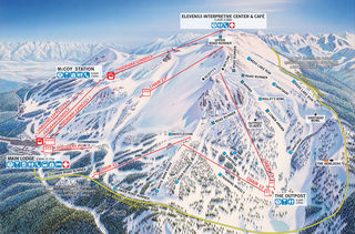 Mammoth Mountain map