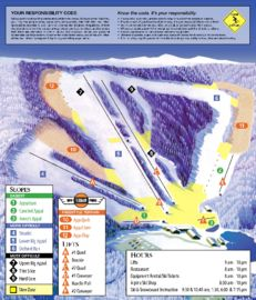 Appalachian Ski Mountain map