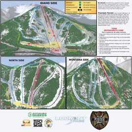 Lookout Pass trail map