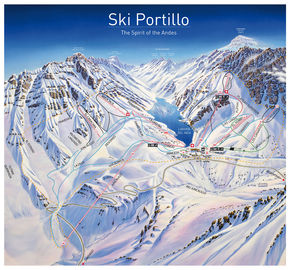 Ski Portillo trail map
