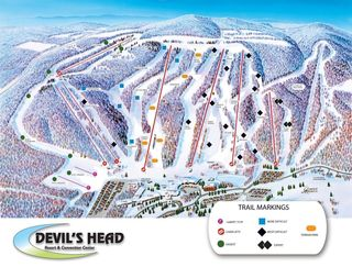 Devils Head trail map