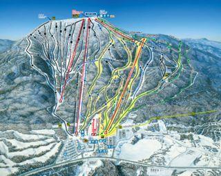 Mont Sainte-Anne trail map