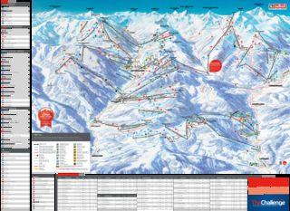 Saalbach Hinterglemm map
