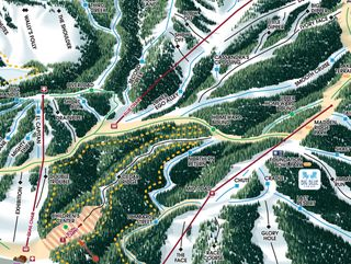 Homewood Mountain Resort map