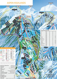 Aspen Highlands trail map