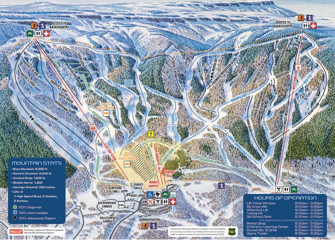 Best of Powderhorn 2019/20 | Packages & Top Tips - SnowPak Denver Ski Resort Map on