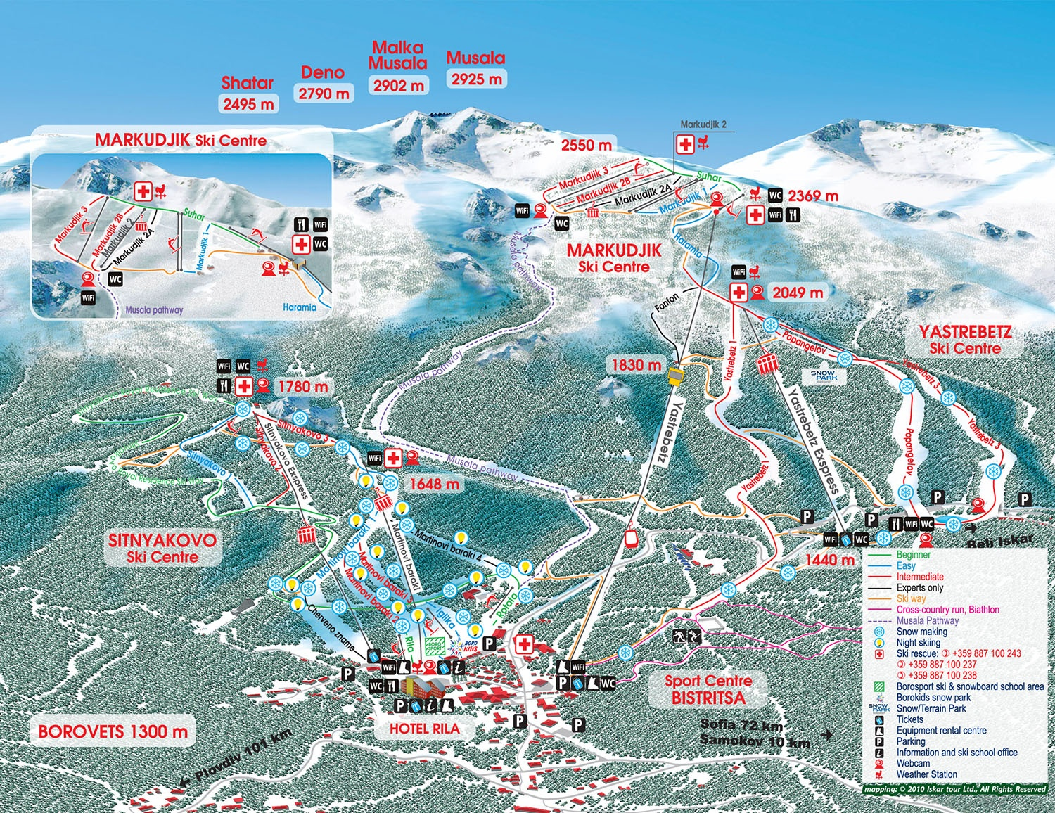 Borovets Ski Map Best of Borovets 2018/19 | Packages & Top Tips   SnowPak Borovets Ski Map