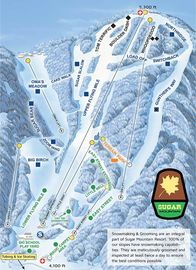 Sugar Mountain Resort trail map