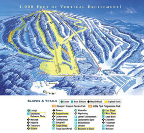 Elk Mountain Ski Resort map