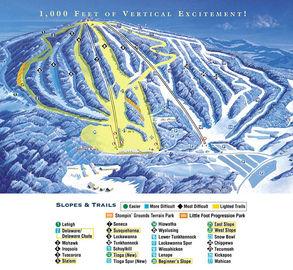 Elk Mountain Ski Resort trail map