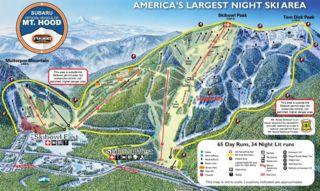 Mount Hood Ski Bowl trail map