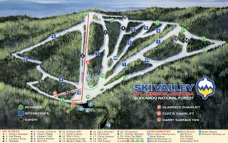 Mount Lemmon Ski Valley trail map