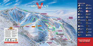 Winterplace Ski Resort map