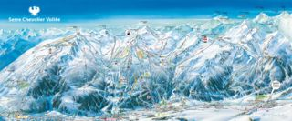 Serre Chevalier trail map