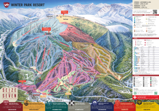 Winter Park Resort trail map