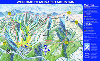 Monarch Mountain map