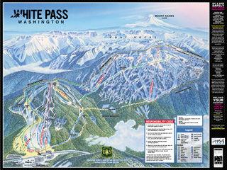 White Pass trail map