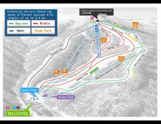 Sapporo Kokusai trail map