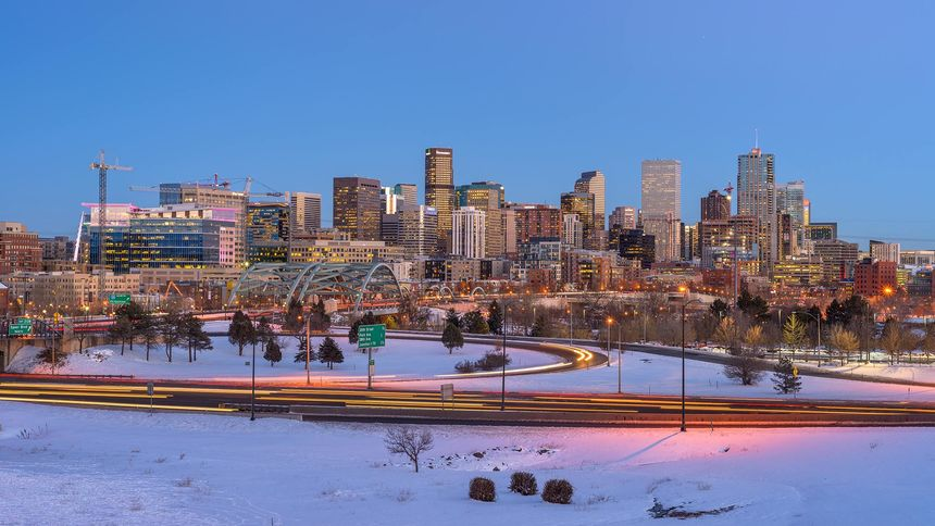 denver city in winter