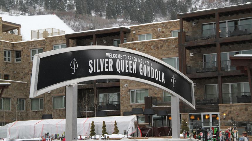 Silver Queen Gondola at Aspen mountain ski resort