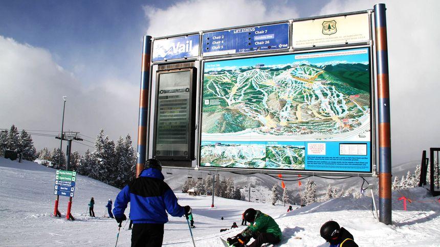 Vail ski resort map