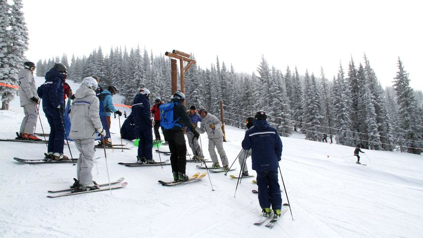 Learn to ski at Vail by attending ski lessons
