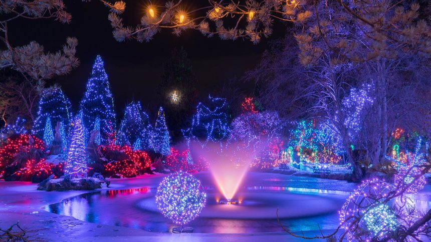 vancouver vandusen festival of lights christmas night