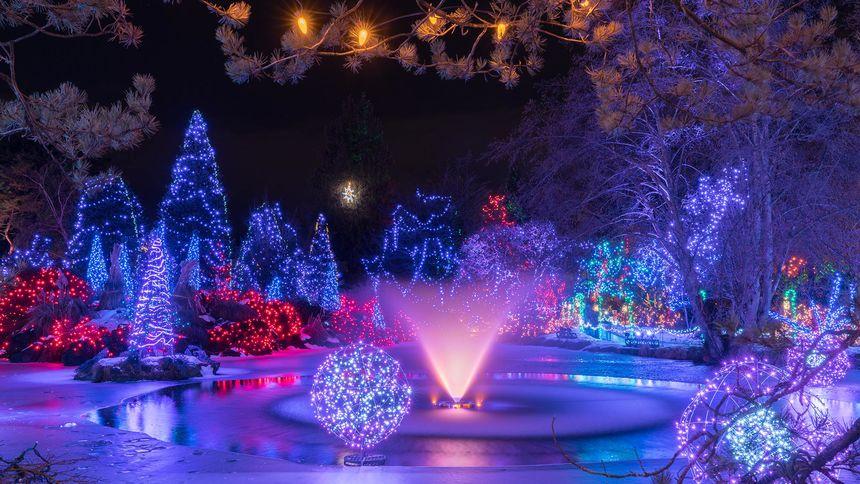 vancouver vandusen festival of lights christmas night