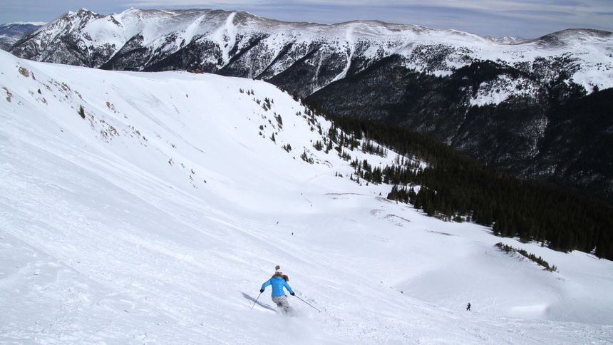 Double black terrain at Copper Mountain ski resort