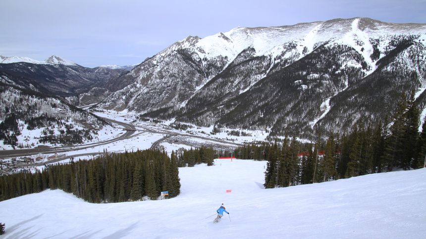 Intermediate terrain at Copper Mountain