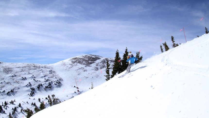 Expert terrain at Copper Mountain