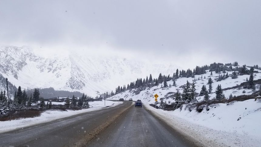Highway 6 over Loveland Pass