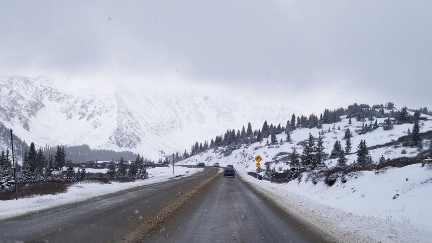 Highway 6 over Loveland Pass