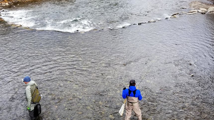 fly fishing at Silverthorne