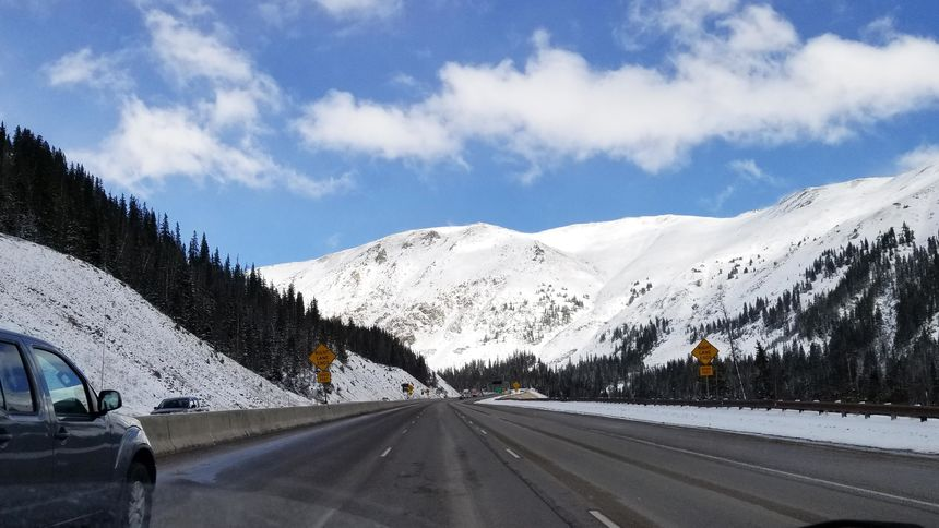 I-70 Eastbound from Silverthorne approaching Johnson tunnel