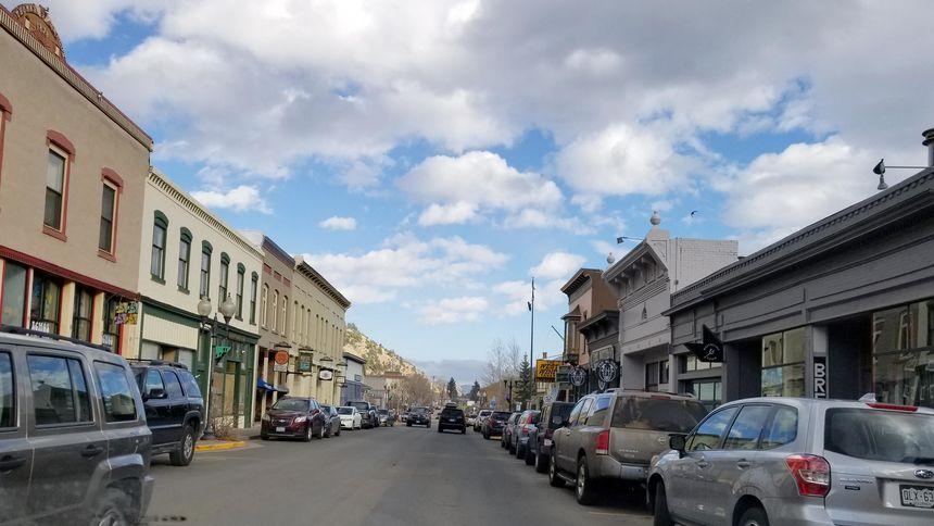 Main street at Idaho Springs