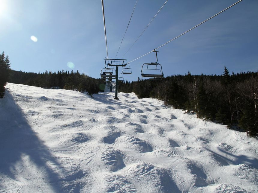 Wildcat Express Quad Chairlift To The Summit Moguls