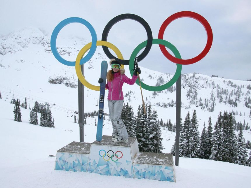 olympic podium skier Whistler Blackcomb