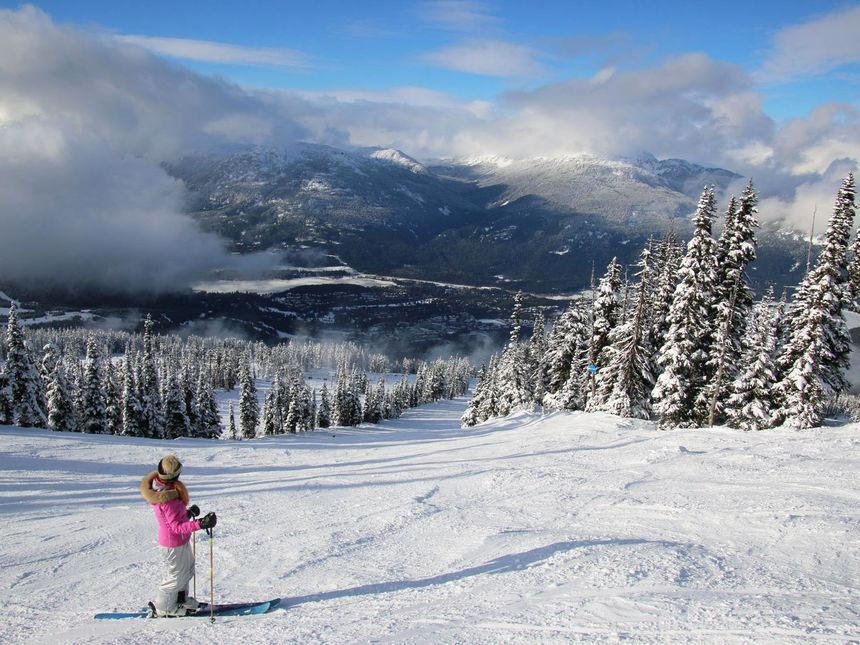 Whistler Blackcomb skiing mountain views