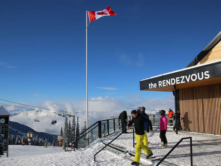 Rendezvous Lodge on mountain Blackcomb
