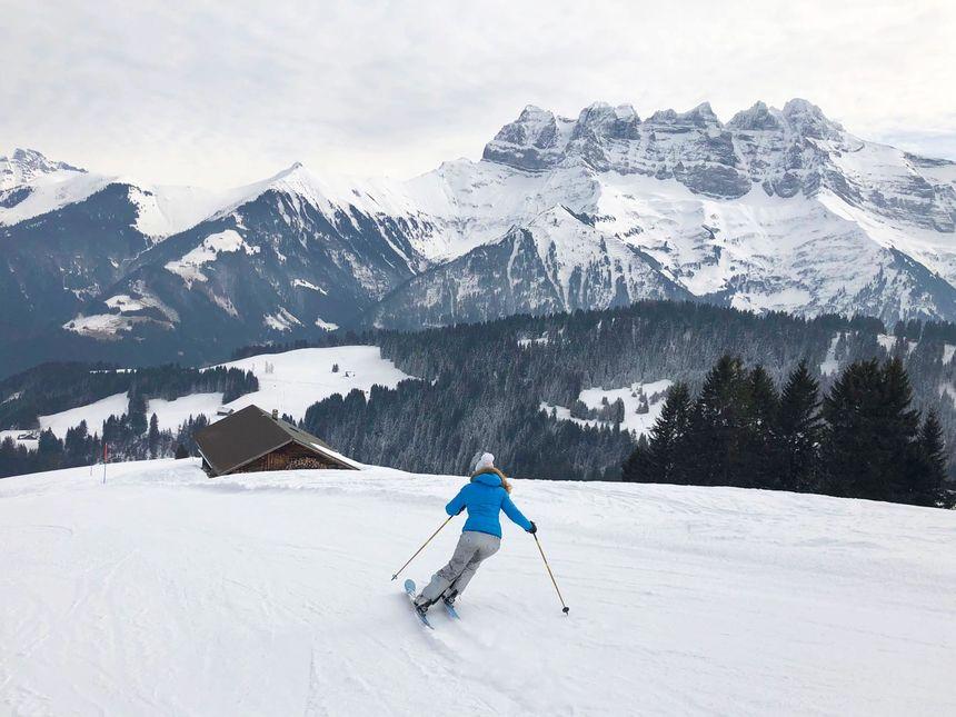 crowd free skiing Morgins Portes du Soleil