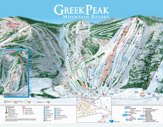 Greek Peak map