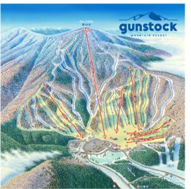 Gunstock Mountain Resort map