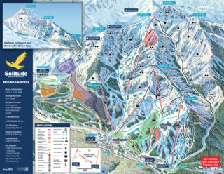 Solitude Mountain Resort map