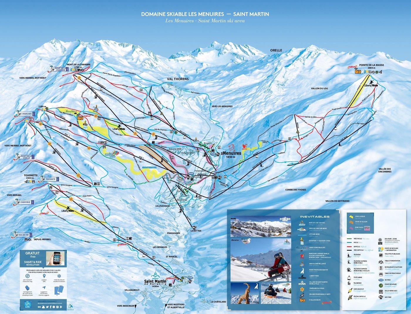 Les Menuires Trail Map