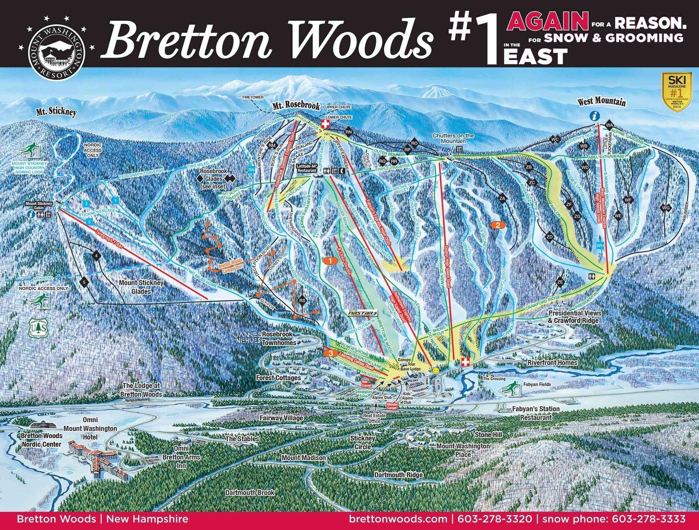 Bretton Woods Trail Map